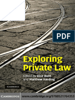 Bant y Harding - Exploring Private Law (2010)