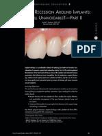 Soft Tissue Recession Around Implants