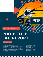 projectile lab report