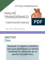 8 anticonceptivo parche transdérmico