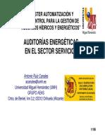 Auditorias energéticas en sector servicios