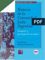 Historia de la comunidad judia en argentina