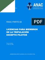 Boletín_Oficial_2.010-11-25-Administración_Nacional_de_Aviación_Civil-Resolución_980_2.010-Anexo_04-RAAC_Parte_63-Licencias_y_Habilitaciones_para_miembros_de_la_tripulación_excepto_Pilotos