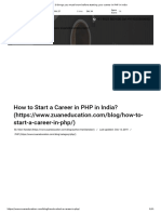 5 Things You Must Know Before Starting Your Career in PHP in India