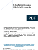 Prospek Dan Perkembangan Industri Herbal