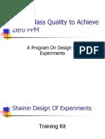 World Class Quality to Achieve Zero PPM 231111
