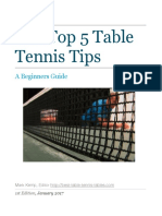 Top 5 Table Tennis Tips