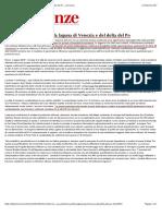 CNR - La Subsidenza Della Laguna Di Venezia e Del Delta Del Po - Le Scienze