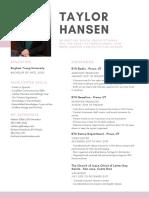 Tayor Hansen Resume 2019