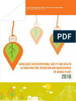 Guidelines On Occupational Safety And Health In Construction, Operation And Maintenance Of Biogas Plant 2016