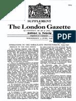 LONDON GAZZETTE