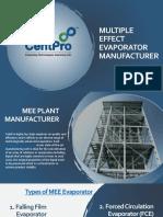 MEE Plant Manufacturers-CentPro