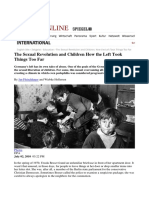 ARTICOLO.Der.Spiegel. Riassunto.The Sexual Revolution and Children How the Left Took Things Too Far