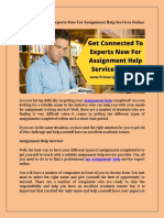 Get Connected to Experts Now for Assignment Help Services Online