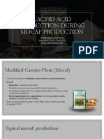 Lactid acid production during mocaf production