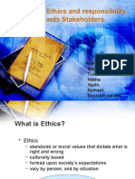 Bussiness Ethics Responsibility of Stakeholders