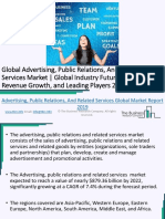 Global Advertising, Public Relations, And Related Services Market Overview 2019-2022