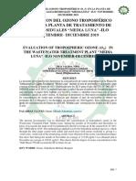 Articulo de Evaluación de Ozono Troposférico en el PTAR media Luna ILO.