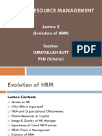 Lecture 2 (Evolution of HRM)