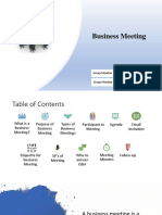 Managerial Communication Presentation on Business Meetings