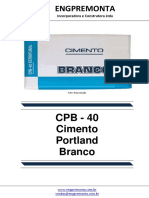 Cimento CPB - 40 - Branco