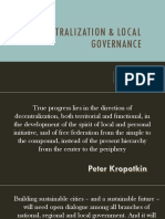 decentralization & local governance