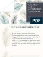 Children and Adolescent Literature Lecture 1