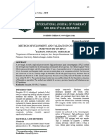 Method Development and Validation on Etomidate injection by RP-HPLC