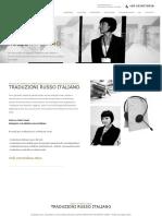 Interprete e Traduzioni Russo Italiano Toscana