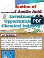 Production of Glacial Acetic Acid