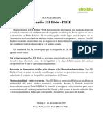 Comunicado de Bildu tras la reunión con el PSOE