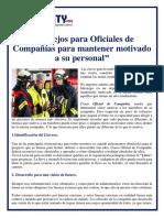 002 CONSEJOS PARA OFICIALES PARA MANTENER MOTIVADO A SU PERSONAL