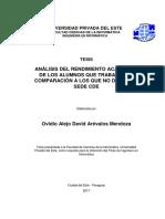 Tesis Análisis Del Rendimiento Academico - Ovidio Alejo David Arevalos Mendoza