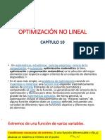 Optimización No Lineal