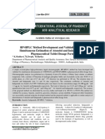 RP-HPLC Method Development and Validation for the Simultaneous Estimation of Atenolol and Indapamide in Pharmaceutical Tablet Dosage Form