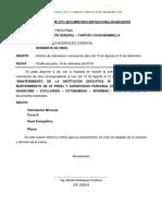 01rm. Mantenimiento Institucion Educativa y Prebs