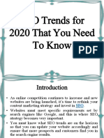 SEO Trends for 2020 That You Need to Know