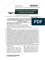An Experimental Design Approach for Method Development and Impurity Profiling of Simvastatin by UV Spectrophotometric and RP–HPLC Methods