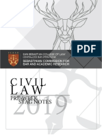 Stag Preweek Notes Civil Law 2019 Final for Release