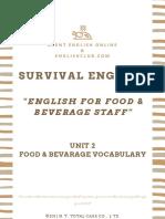 [English Club] Survival English - English for F&B Staff Unit 2