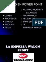 La Empresa Walon Sport