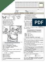 ( 7º B - 4º BI ) PB DE INGLÊS - VERSÃO ALUNO