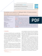 Formulation and Evaluation of Sublingual Tablets o