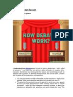 How to Write a Debate Speech