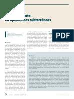 MINERIA DE DATA EN OPERACIONES SUBTERRANEAS