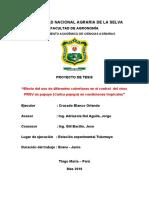 Proyecto Papayo ORLANDO 2010- Efecto Del Uso de Diferentes Coberturas en El Control Del Virus PRSV en Papayo (Carica Papaya) en Condiciones Tropic Ales