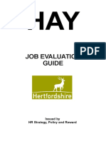Job Evaluation guide - hay method