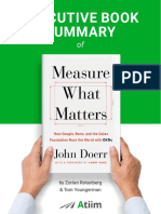 John Doerr OKRs and Measure What Matters Book Summary