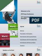 IFR World Robotics Presentation - 18 Sept 2019
