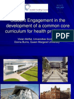Student Engagement in the development of a common core curriculum for health professions